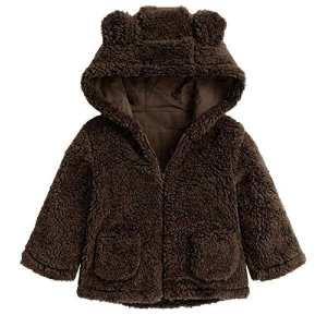 Hoodie Winter Ear Fur Jackets For Kids