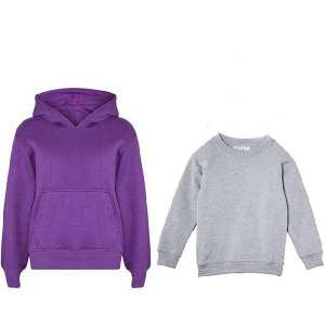 Buy 1  Plain Fleece Hoodie for Kids And Get Grey Fleece Sweat Shirt