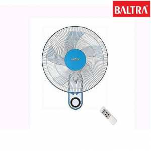"""Baltra BF-139 Cute+ 3 Speed 16"""" Wall Fan With Remote - (White/Blue)"""