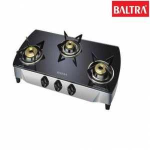 Baltra BGS 107 Crystal 3 Gas Stove - Black