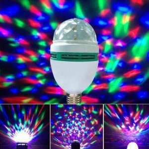Colorful Auto Rotating RGB LED Bulb Stage Light Party Lamp Disco for Party Festival Wedding Decoration Disco ball Lamps