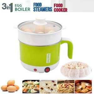 Khopo 3 in 1 Multipurpose Heating Egg Boiler,Food Steamer,Cooker