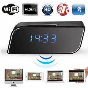 HD 1080P Mini WIFI Camera Alarm Clock Camera Night Vision Wifi Cam IP Mini DV DVR Recording Camcorder Wifi Remote Control Camera