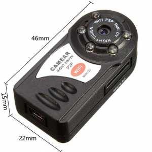 Spy Mini WiFi Q7 720P HD Mini DV Wireless IP Camera
