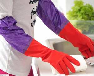 Waterproof Warm Washing And Cleaning Gloves With Fur Inside