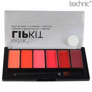 Technic Lip Kit- Tropicana (Mix-Palette Of 6 Different Colors)