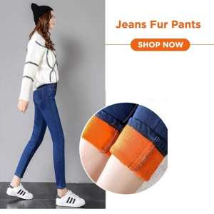High Quality Jeans Fur Pant For Women Plus Size