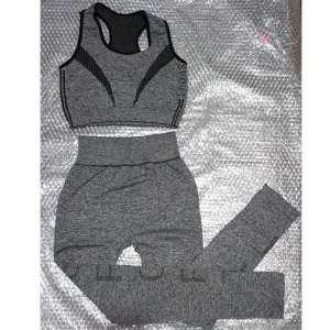 Womens 2 Piece Outfits Crop Top Long Pants Leggings Yoga Set Sports Tracksuit