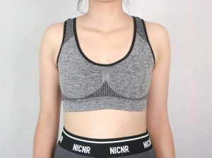 Brussels Sports New Front Button Non Wire Training Women Bra
