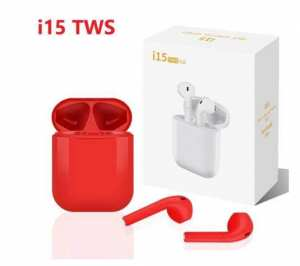 2020 new I15 TWS In-ear Bluetooth 5.0 Earphones Stereo Red Headsets Celular Binaural Call Headphones Touch Wireless earphone
