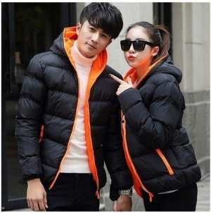 Warm Winter Jacket for Men In Black Color