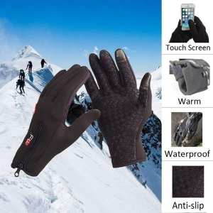Warm and windproof gloves waterproof gloves bicycle motorcycle gloves