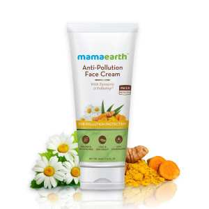 Mamaearth Anti-Pollution Daily Face Cream, for Dry and Oily Skin, with Turmeric and Pollustop® For a Bright Glowing Skin – 80ml