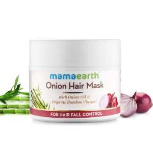 Mamaearth Onion Hair Mask, For Hair Fall Control, With Onion Oil & Organic Bamboo Vinegar, 200ml