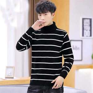 2020 Stylish Fashionable Strap Line Design Sweater For Men Free Size