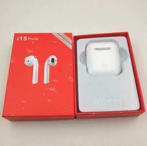 Best Quality Sound i15 Pods TWS Bluetooth 5.0 Pop-up Window Touch Control Auto Pairing Wireless