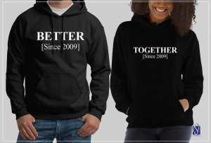 Valentines Fashionable  Cotton fleece  rubbery print Couple Hoodie