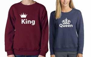 King Queen Couple Sweatshirts