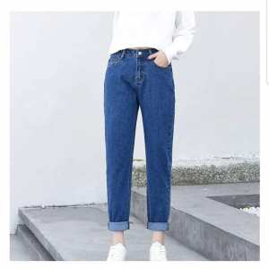 Denim Jeans Pant For Women Mom Jeans Pant Solid Style Comfortable To wear Royal Blue In Color Mom Jeans