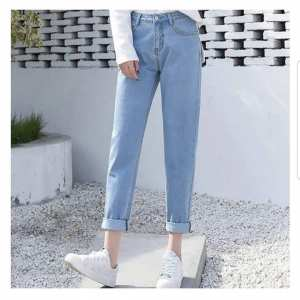 Denim Jeans Pant For Women Mom Jeans Pant Solid Style Comfortable To wear Sky Blue In Color