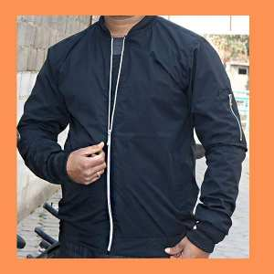 Bomber Winder Cheater For Men Black Color Formal & Casual For Men