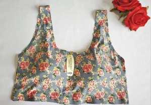 Floral Ice Silk Seamless Print Back Hook Designed Sports Bra For Women
