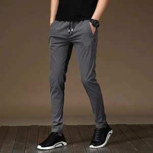 Grey Polyester Sweat Pant For Men