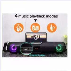Kisonli LED 900 Wireless Portable Speaker With TF AUX FM LED Phone Stand