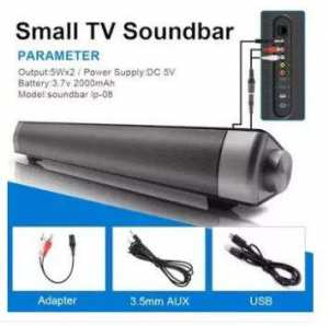 Small TV Sound Bar LP-08 Wireless Subwoofer Bluetooth Speaker 10W mini portable speakers with TF car