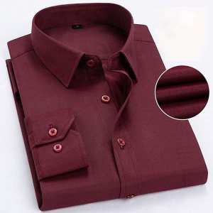 Formal Casual Shirt For Men(Maroon)