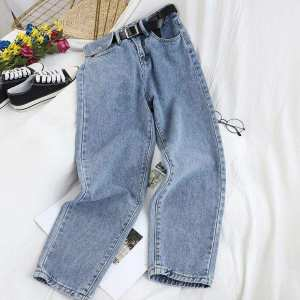 Vintage Mom Jeans With Button Closure With Side Pocket Jeans Pant