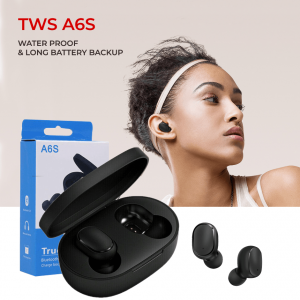 A6S Mini TWS Twins True Wireless In-Ear Bluetooth 5.0 Earphones Sports Stereo Earbuds Headset With Mic 280mah Auto Charging Box most trending airpod
