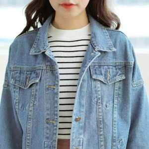 Summer Denim Jacket For Women Long Sleeves