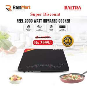 Baltra Feel (Infrared) 2000 Watt Induction Cooktop (Black)