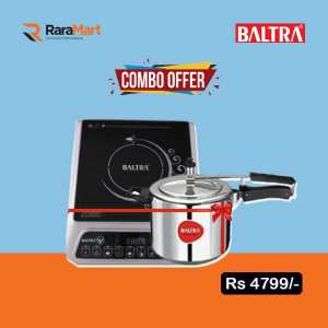 Baltra Clark 2000 Watt Induction Cooktop (Black) & Steela Induction Based Pressure Cooker 3 L Combo offer
