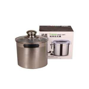 Glass Top Steel Fuma Brand Steel Container With Airtight Seal Can