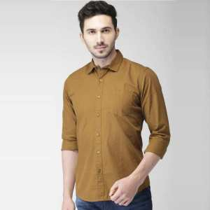 Casual Formal Shirt For Men Brown Color