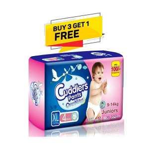 Cuddlers Pants Overnites Juniors (Spcd Line 1)  Diaper Xl - 4 Pcs (Buy 3 Get 1 Free)