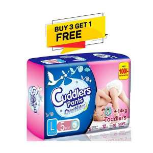 Cuddlers Pants Overnites Toddlers (SPCD line 1)Diaper Large - 5 Pcs (Buy 3 Get 1 Free)