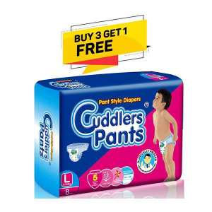 Cuddlers Common Pack  Pants Style Diapers Large - 8 Pcs (Buy 3 Get 1 Free)