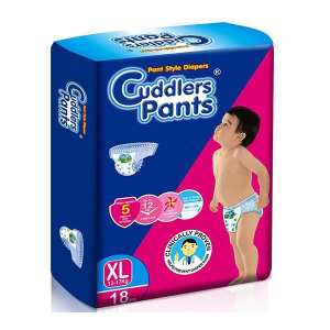Cuddlers Mini Eco Pants Style Diapers Xl - 18 Pcs