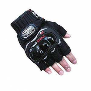 Pro Biker Half Cut Racing Biking Driving Motorcycle Gloves Black
