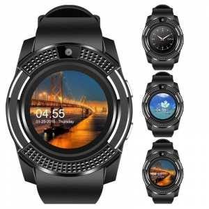 V8 Bluetooth Smart Watch Sports Fitness Tracker SD Card Sim Card Smartwatch Phone Pedometer Sleep Monitor