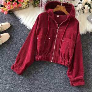 Crop Hoodie For Women Free Size
