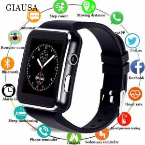 X7 Smart Watch with Camera Touch Screen Support SIM TF Card Bluetooth Smartwatch for IPhone Android Phone