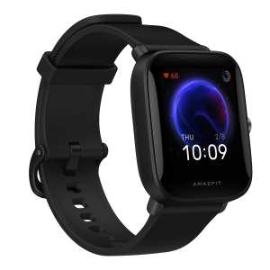 """Amazfit Bip U Smart Watch, 1.43"""" HD Color Display, SpO2 & Stress Monitor, 60+ Sports Modes, Breathing Training, 50+ Watch Faces (Black)"""