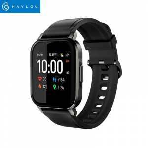 """HAYLOU LS02 SmartWatch(1.4"""", 260mAh, Bluetooth 5.0, IP68)-Fitness Tracker with Haylou App(Heart Rate, Pedometer, Calorie, Sleep, Multi-Sports Tracking, Smart Notifications), iOS & Android Compatible"""