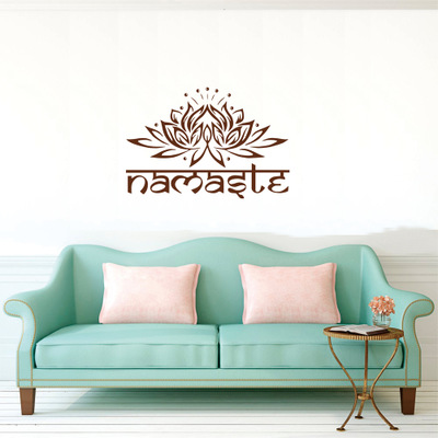 namaste lotus flower vinyl sticker wall sticker|decor : buy sell