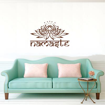 namaste lotus flower vinyl sticker wall sticker|decor : buy sell